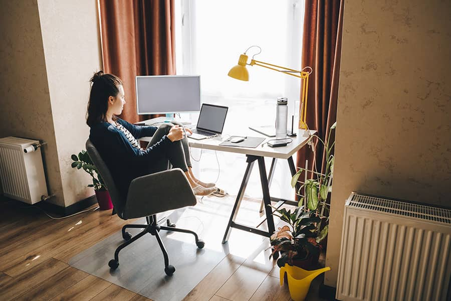 Ahorro trabajando desde casa
